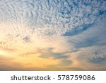 dramatic view of twilight... | Shutterstock . vector #578759086