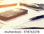 close up business concept  pen... | Shutterstock . vector #578762278