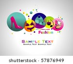 fashion abstract colorful | Shutterstock .eps vector #57876949