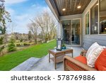 covered back porch with... | Shutterstock . vector #578769886