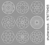vector set of round elements... | Shutterstock .eps vector #578770405