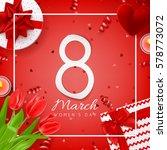 red elegant card for women's... | Shutterstock .eps vector #578773072