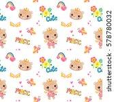 seamless pattern  cute bear... | Shutterstock .eps vector #578780032