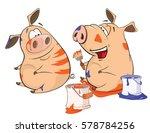 vector illustration of a pig...   Shutterstock .eps vector #578784256