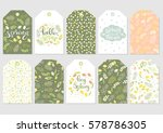 cute gift tags set. spring... | Shutterstock .eps vector #578786305
