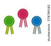 ribbon award. emblem modern... | Shutterstock .eps vector #578789182