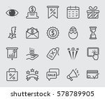 discount and bonus line icon | Shutterstock .eps vector #578789905