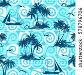 exotic seamless pattern ... | Shutterstock . vector #578796706