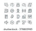 communication. set of outline... | Shutterstock .eps vector #578805985