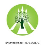 abstract hand tree with arrows  ... | Shutterstock .eps vector #57880873