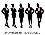 silhouette of business woman... | Shutterstock .eps vector #578809312