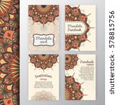 set of vintage invitation and... | Shutterstock .eps vector #578815756