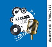 vector logo karaoke   Shutterstock .eps vector #578817616