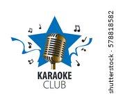 vector logo karaoke | Shutterstock .eps vector #578818582