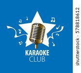 vector logo karaoke | Shutterstock .eps vector #578818612