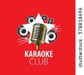 vector logo karaoke   Shutterstock .eps vector #578818696