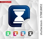 hourglass icon. button with... | Shutterstock .eps vector #578818852