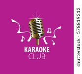 vector logo karaoke | Shutterstock .eps vector #578819212
