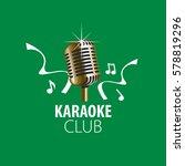 vector logo karaoke | Shutterstock .eps vector #578819296