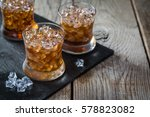 rum and cola cocktail in... | Shutterstock . vector #578823082