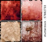 hi-res abstract grunge backgrounds set, raster illustration