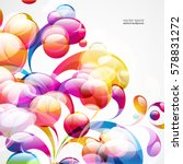 abstract colorful arc drop... | Shutterstock .eps vector #578831272