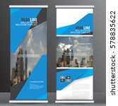 roll up banner stand template... | Shutterstock .eps vector #578835622