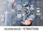 cv   curriculum vitae job... | Shutterstock . vector #578837086