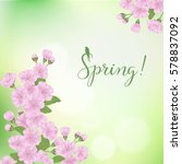 vector spring card with... | Shutterstock .eps vector #578837092