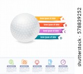 vector golf ball infographics... | Shutterstock .eps vector #578839252
