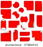 realistic red stickers with... | Shutterstock . vector #57884413