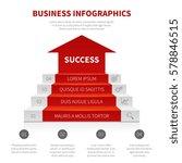 staircase  business ladder ... | Shutterstock .eps vector #578846515