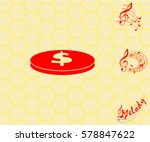 pictogram coin icon