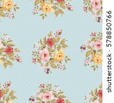 seamless floral pattern with...   Shutterstock .eps vector #578850766