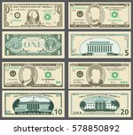 dollar banknotes  us currency... | Shutterstock .eps vector #578850892