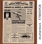 old newspaper  vintage... | Shutterstock .eps vector #578850928