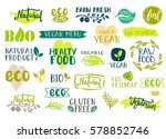 set of healthy organic food... | Shutterstock .eps vector #578852746