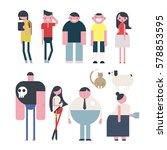 people character vector... | Shutterstock .eps vector #578853595