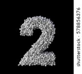 Number 2 Two Made Of Pearls Or...