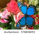 Plastic Flowers Butterfly And...
