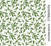 seamless green leaf pattern.... | Shutterstock .eps vector #578860456