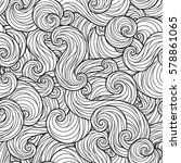 sea waves seamless pattern. for ... | Shutterstock .eps vector #578861065