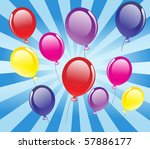 vector background with balloons. | Shutterstock .eps vector #57886177