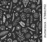 seamless vector floral pattern. ... | Shutterstock .eps vector #578861902