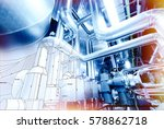 sketch of equipment  cables and ... | Shutterstock . vector #578862718