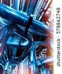 industrial zone  steel... | Shutterstock . vector #578862748