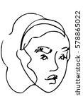 black and white vector sketch... | Shutterstock .eps vector #578865022