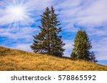 lovely hills in the early fall.... | Shutterstock . vector #578865592