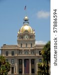 City Hall Clock At Historic...