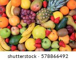 a variety of colorful fresh... | Shutterstock . vector #578866492
